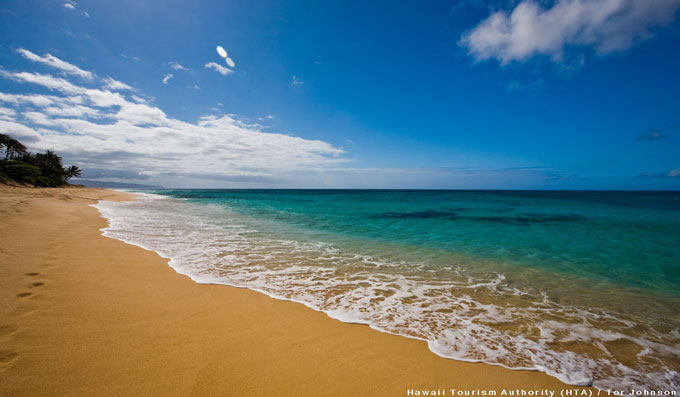 Sunset Beach in Oahu